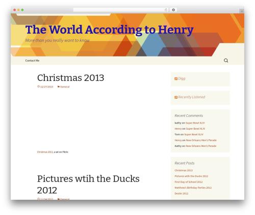Twenty Thirteen WordPress template free - hbusby.com