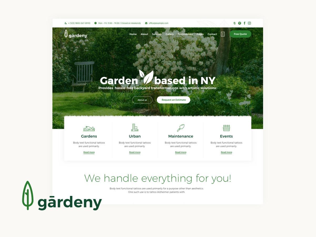 (VamTam) Landscaping garden WordPress theme