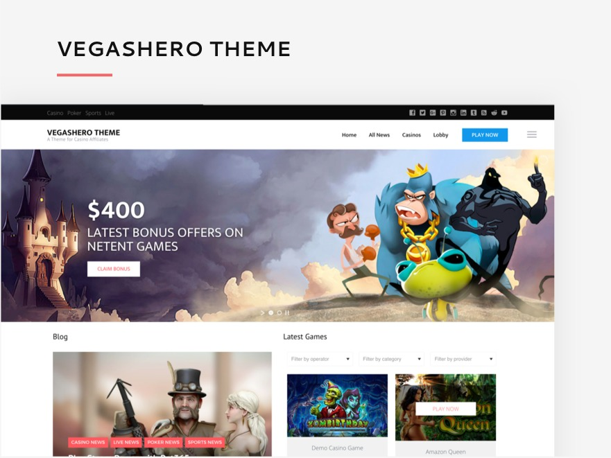 VegasHero Theme WordPress theme