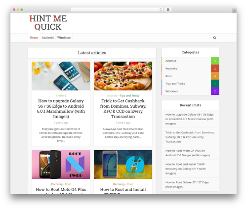 Voice template WordPress - hintmequick.com