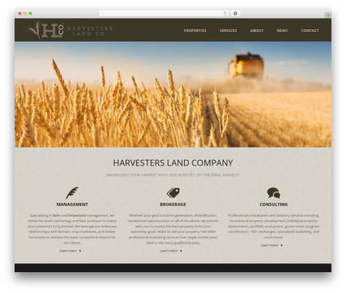 WordPress template Jupiter - harvestersland.com
