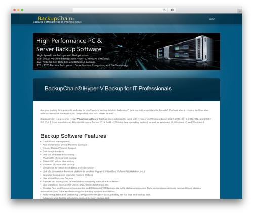WordPress theme Chamber - hyper-v-backup-software.com