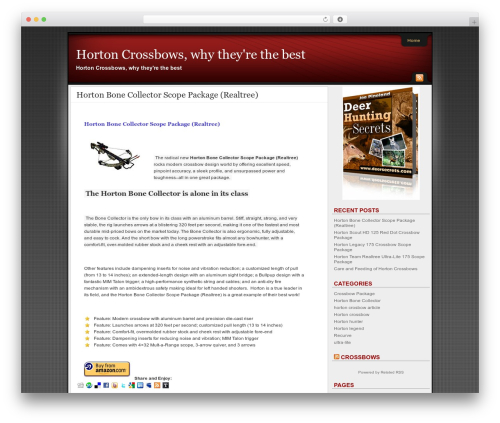 WP template Affiliate Internet Marketing theme - hortoncrossbows.net