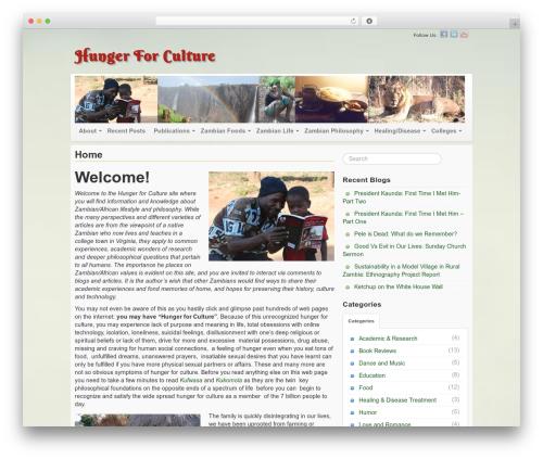 WP theme Voyage - hungerforculture.com