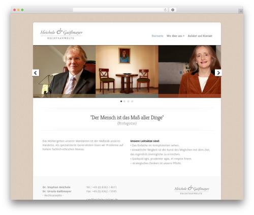Best WordPress theme Chameleon - heichele-partner.de