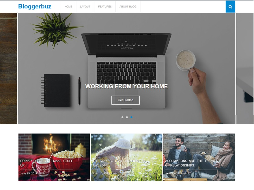 Bloggerbuz free WordPress theme