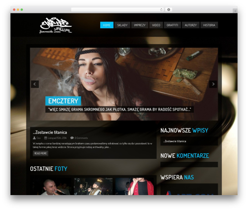 Clubber (Share On Theme123.Net) template WordPress - hiphop.jaw.pl