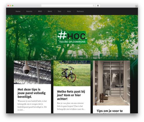 Garfunkel template WordPress free - houseofcommons.nl