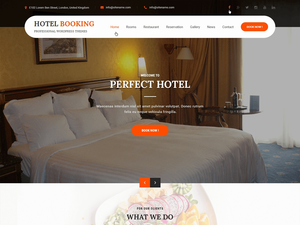 Hotel Booking WordPress theme image
