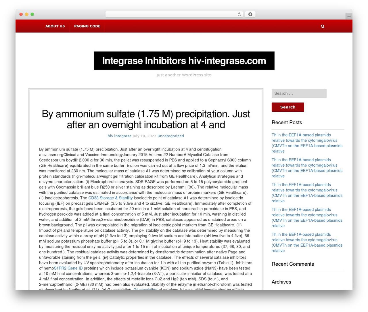 NewsBlog newspaper WordPress theme - hiv-integrase.com