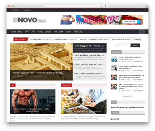 Novomag Premium Theme [Shared By themes24x7.com] WordPress theme design - healthyfitnow.com