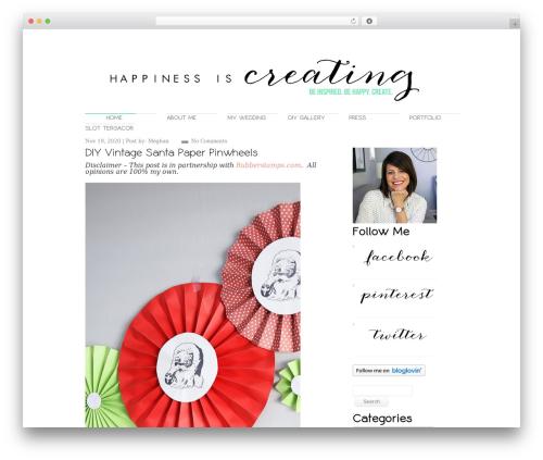 Perfekto WordPress theme - happinessiscreating.com