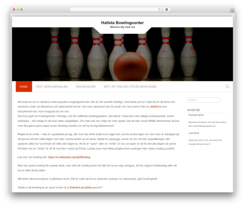 Theme WordPress PremierPro - hallstabowlingcenter.se