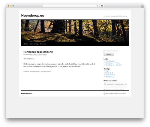 Twenty Ten WordPress page template - hoenderop.eu