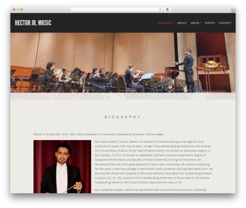 Berliner best WordPress theme - hectorjrmusic.com