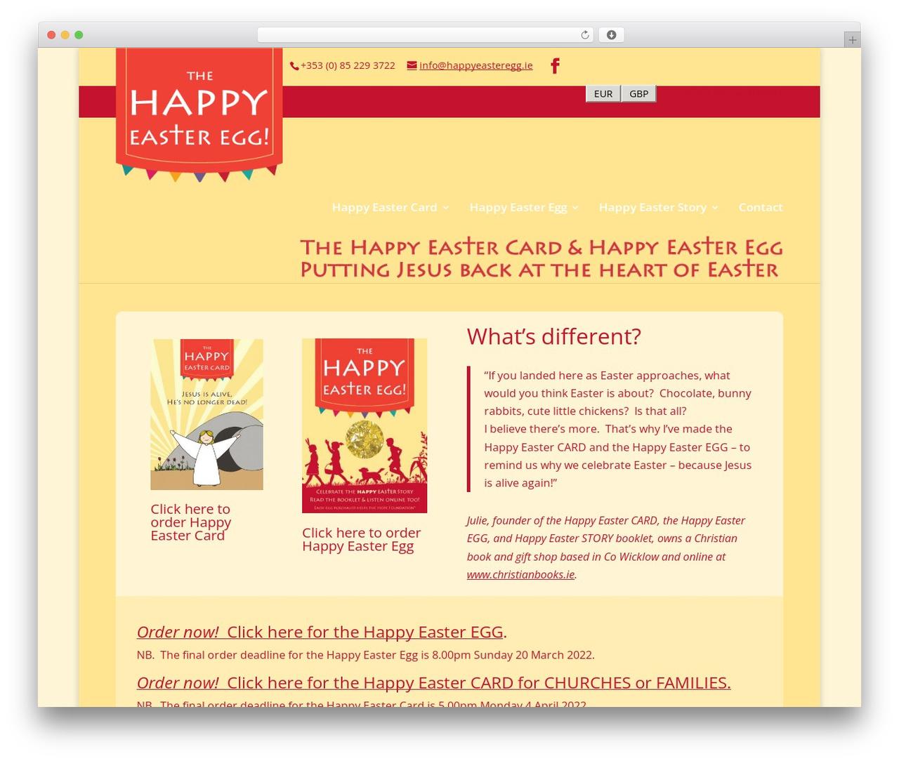 Divi premium WordPress theme - happyeasteregg.ie