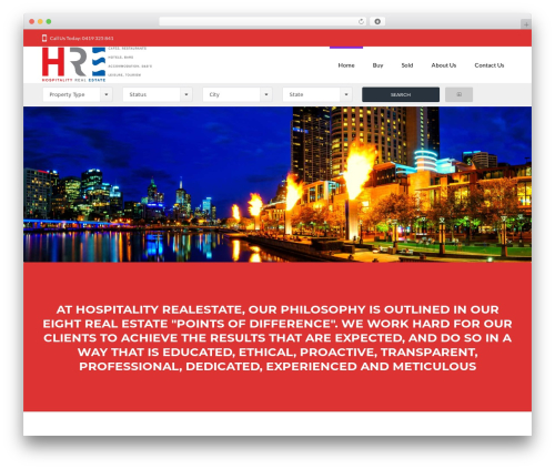 Hayes top WordPress theme - hospitalityrealestate.com.au