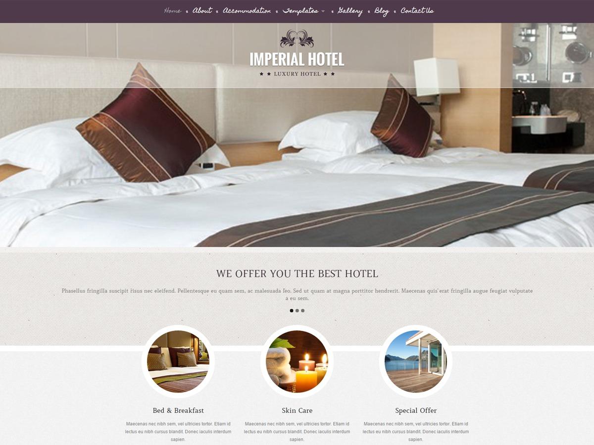 ImperialKT best hotel WordPress theme