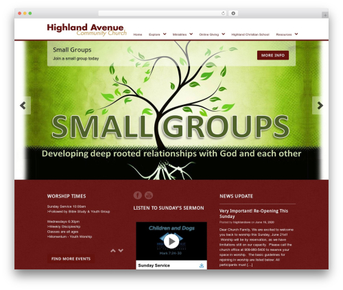 Peacemaker top WordPress theme - highlandave.org
