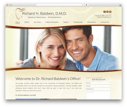 Richard best WordPress theme - hbdentist.com