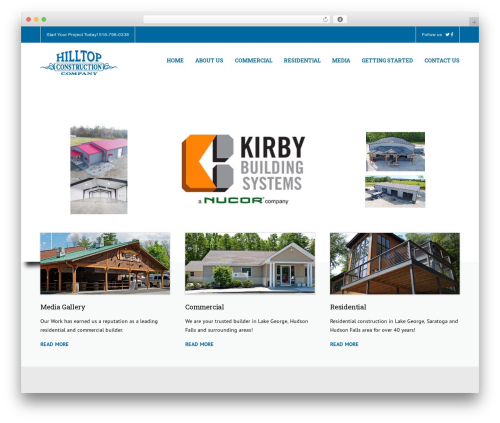Template WordPress Construction - hilltopconstructionco.com