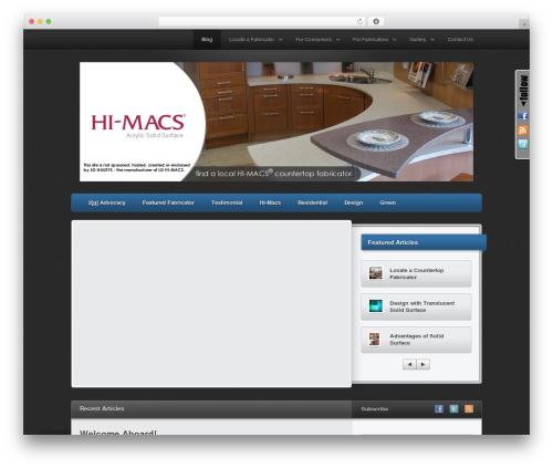 Traction PRO business WordPress theme - himacscountertops.com