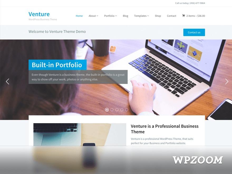 Venture theme WordPress