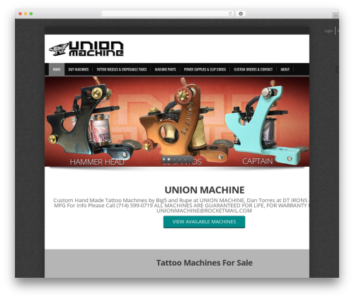alterna8 WordPress template - unionmachine.net