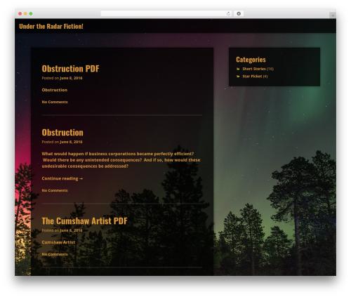 Aperture theme WordPress free - undertheradarfiction.com