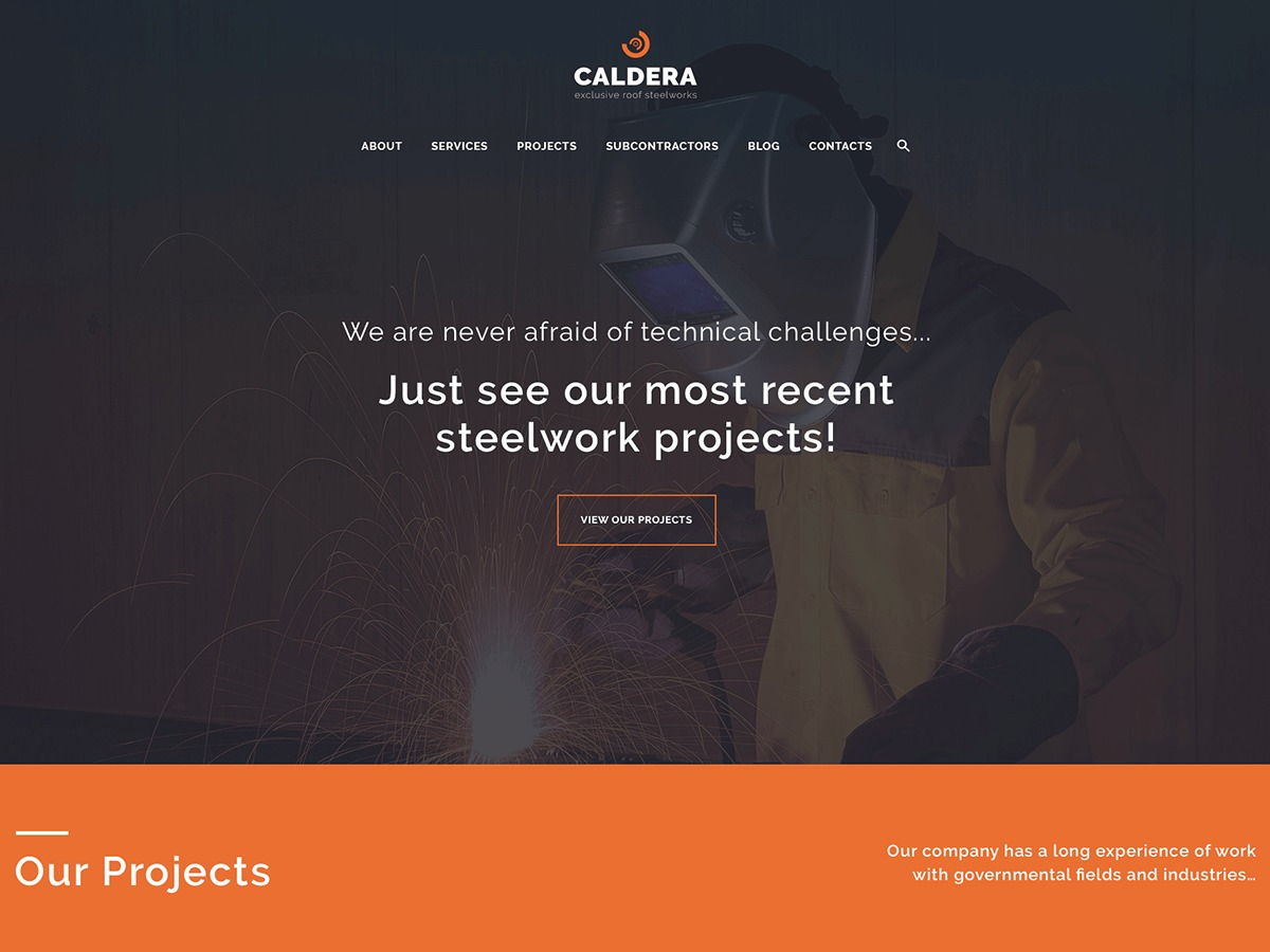 Best WordPress template Caldera