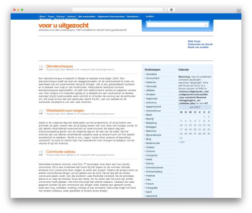 Free WordPress WP-dTree plugin - uitgezocht.net