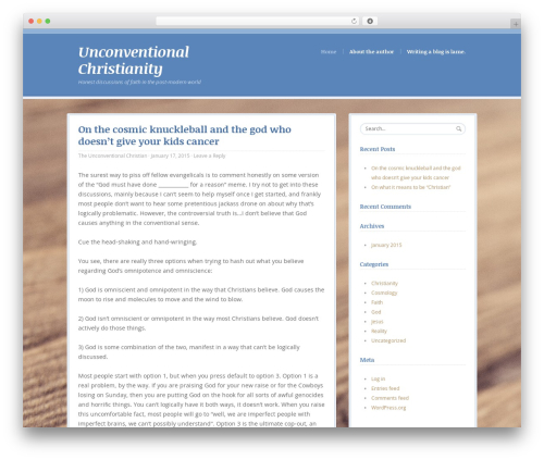 BlueBird top WordPress theme - unconventionalchristianity.com