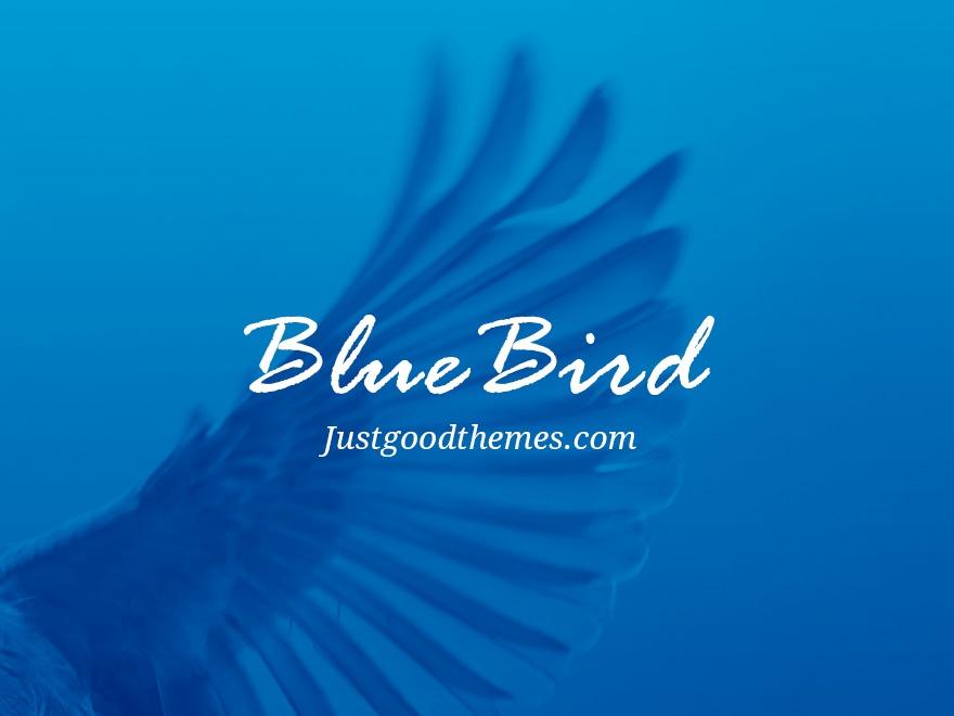 bluebird wordpress blog template by just good themes