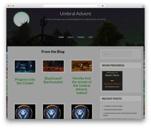 Fifteen free WP theme - umbraladvent.com
