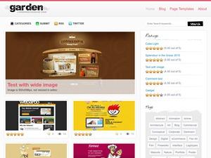 Garden garden WordPress theme
