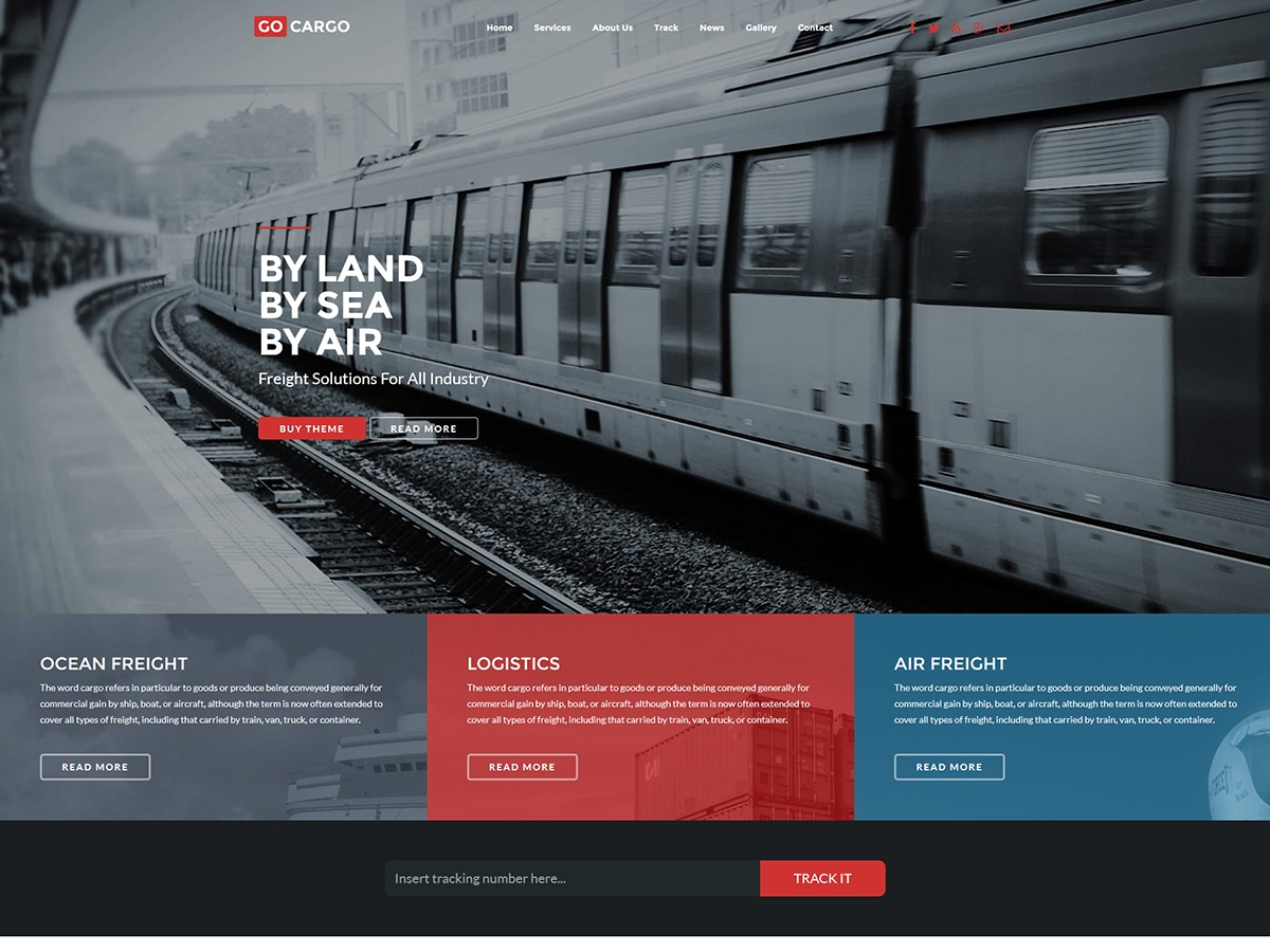 GoCargo WordPress theme
