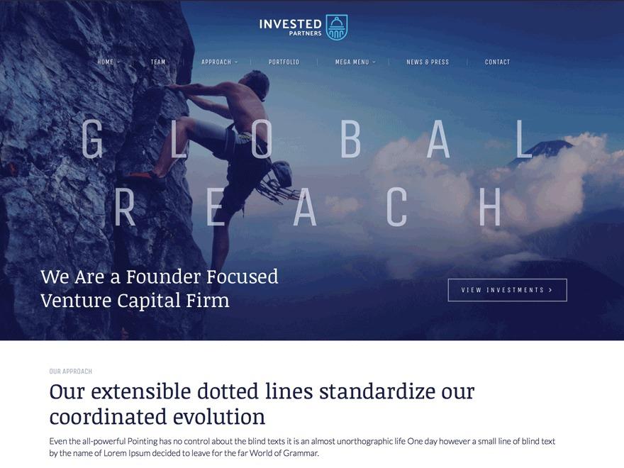 Invested Progression business WordPress theme