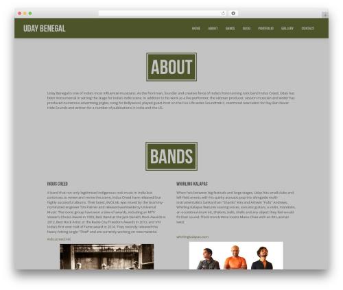Jarvis 3.4 premium WordPress theme - udaybenegal.com