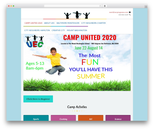 Kidslife top WordPress theme - uecprograms.com