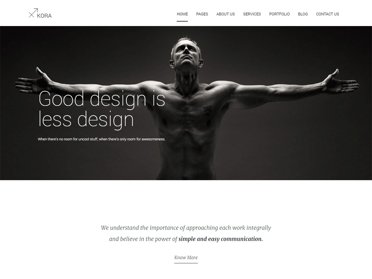 Kora WP WordPress theme image