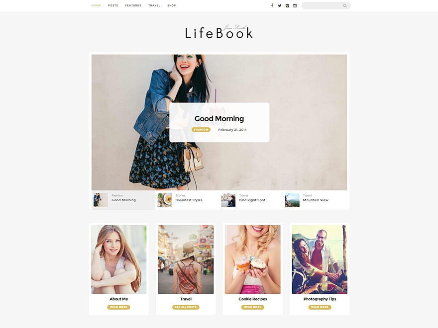 LifeBook WordPress blog theme