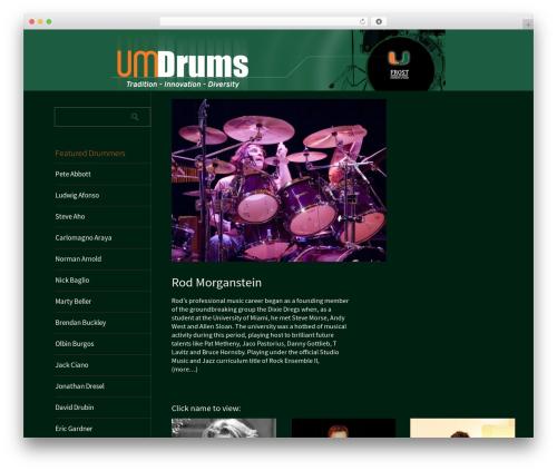 Metro CreativeX WordPress theme - umdrums.com