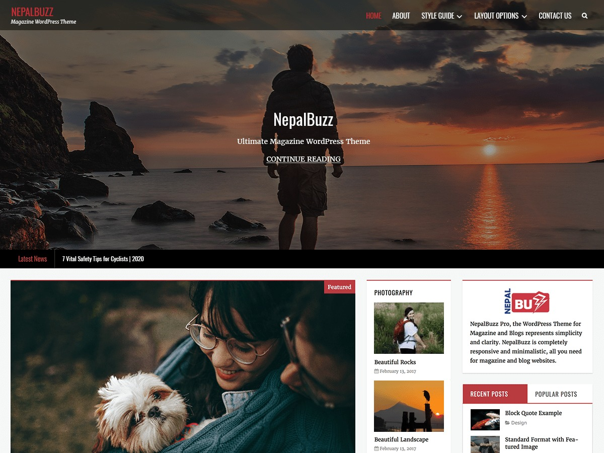 NepalBuzz best WordPress magazine theme