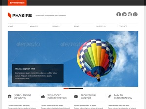 Phasire personal WordPress theme