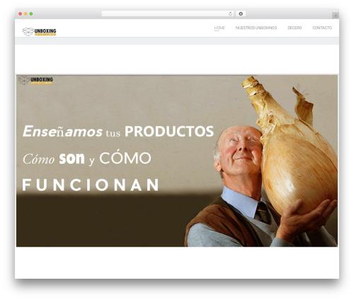 Plain WordPress website template - unboxing-ad.com