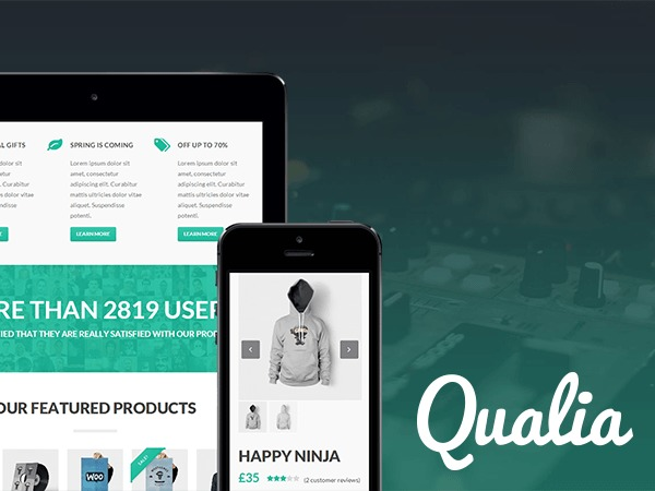 Qualia WordPress theme design