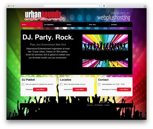 Responsive free website theme - urbansounds.nl