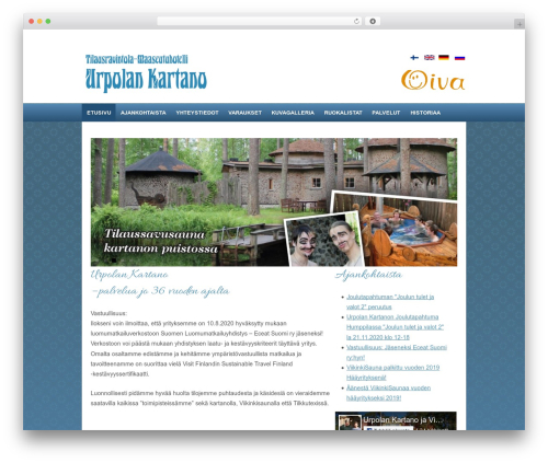 Responsive WordPress theme - urpolankartano.fi