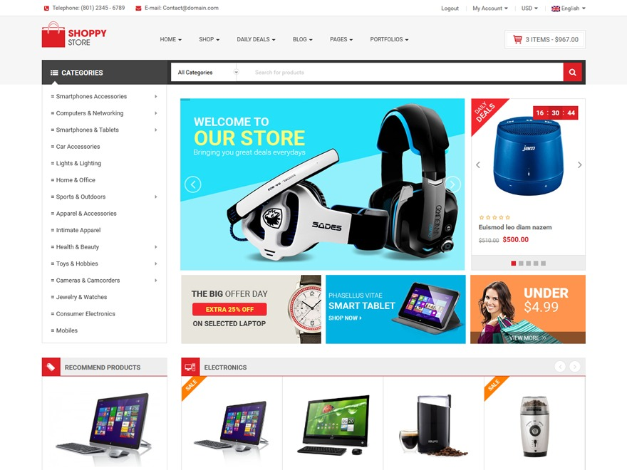 ShoppyStore WordPress shop theme