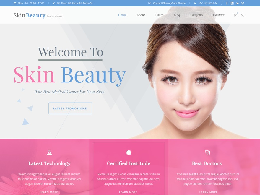 Skin Beauty WordPress template